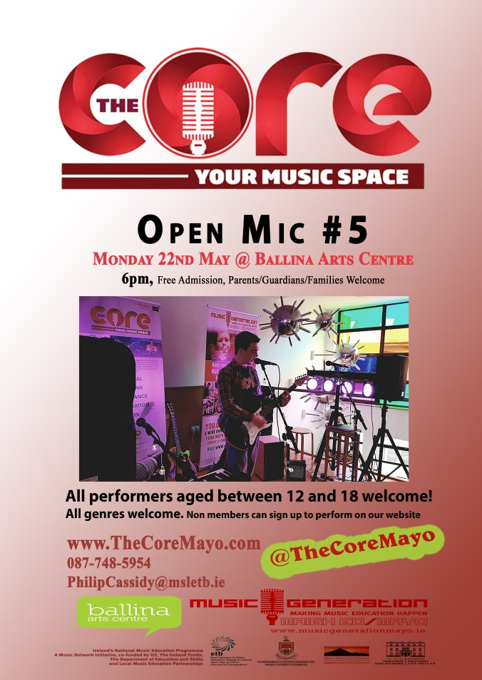 Core poster OPEN MIC NO.5