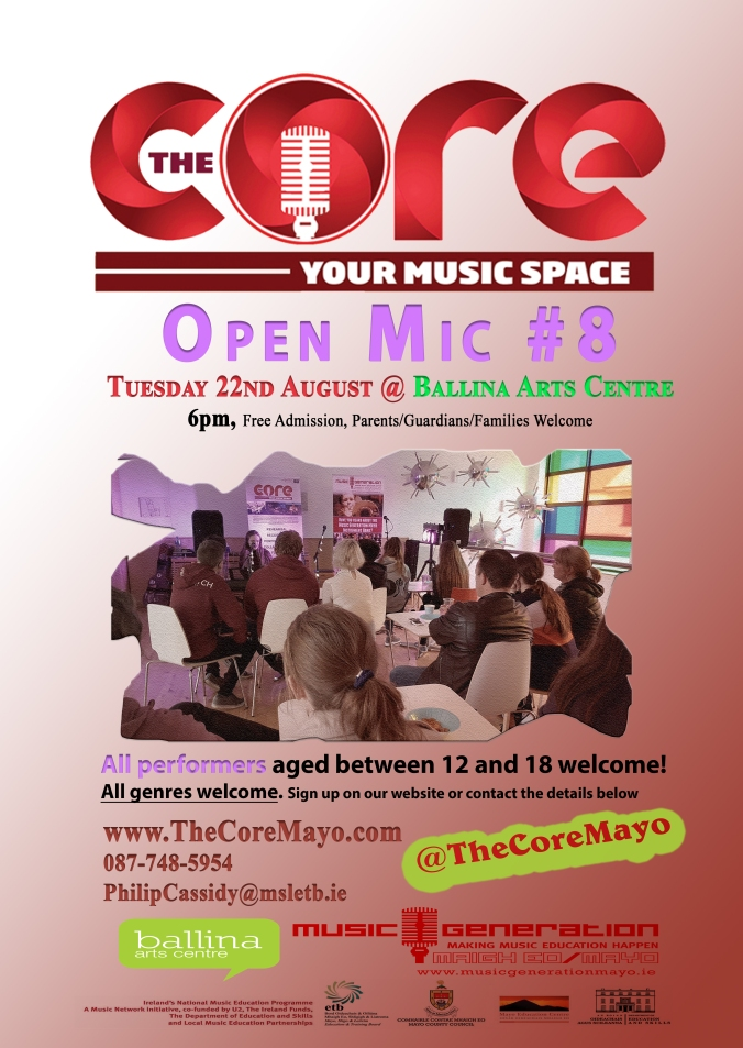 Core poster OPEN MIC NO.8