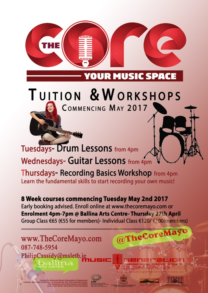Core Poster Tuition workshops May 2017