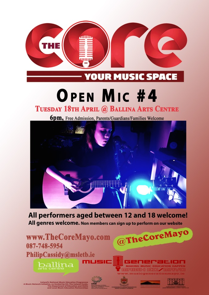 Core poster OPEN MIC NO.4