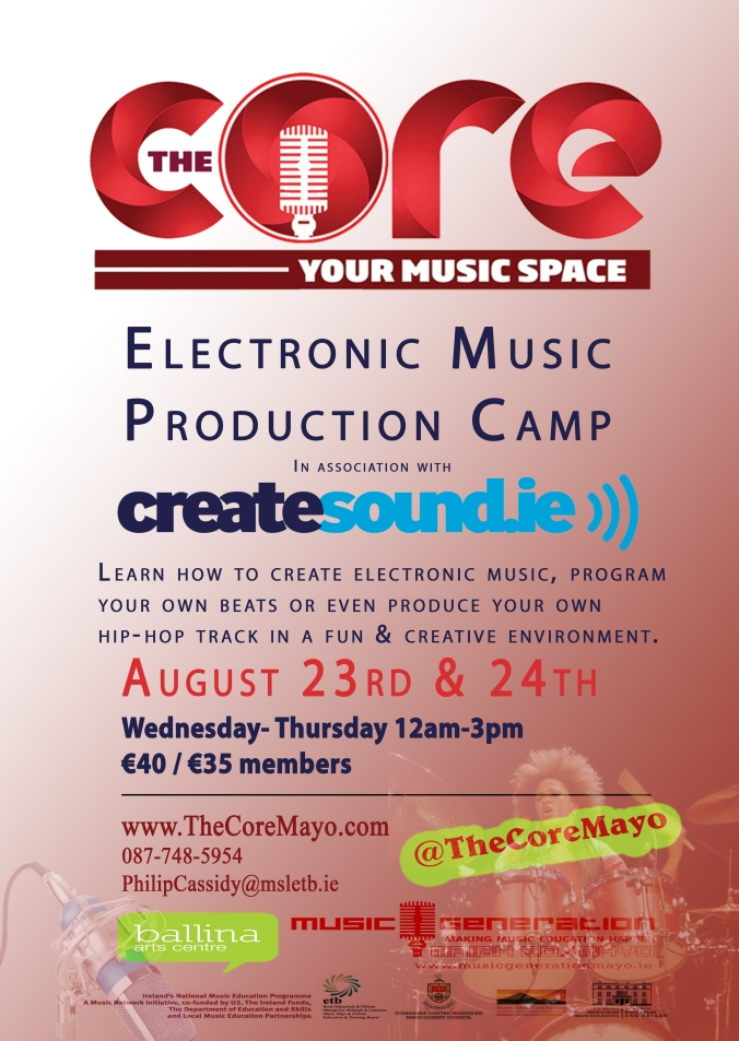 Core Poster CreateSound Camp
