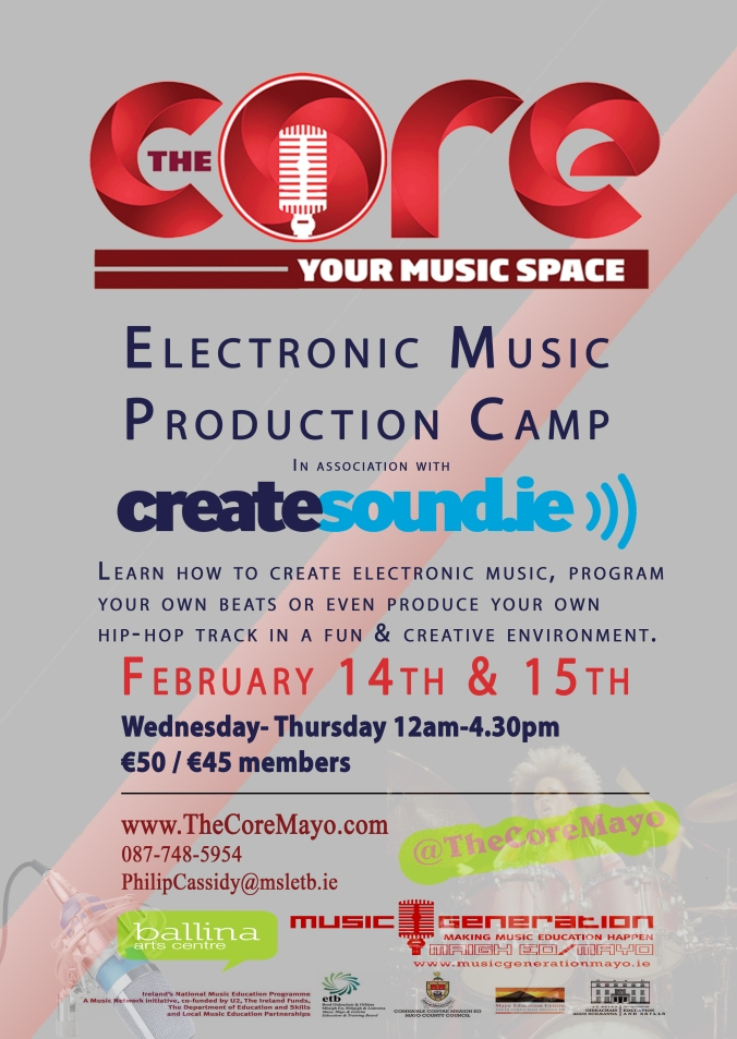 Core Poster CreateSound Camp FEB 2018