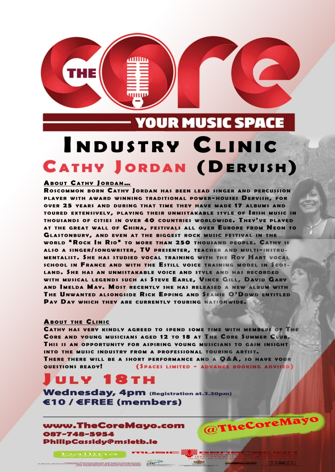 Core Poster Cathy Jordan Industry Clinic