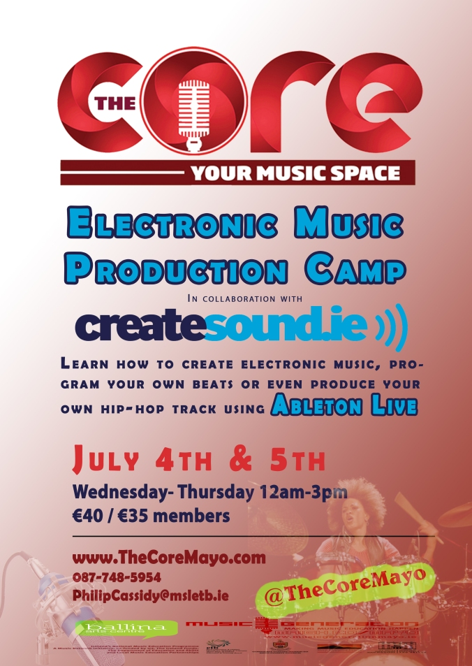Core Poster CreateSound Camp July 2018