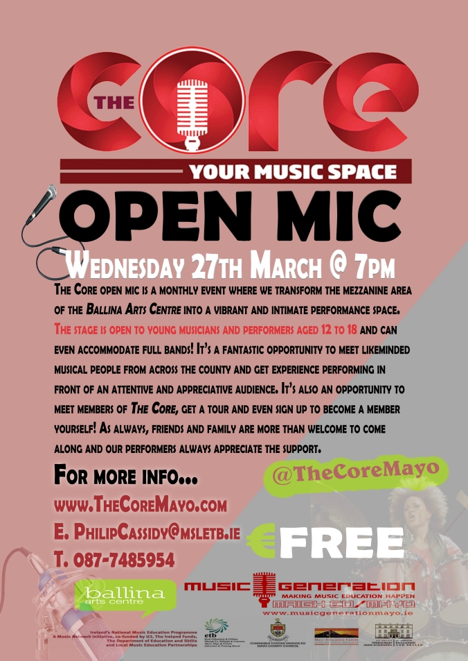 The Core Open Mic March 2019